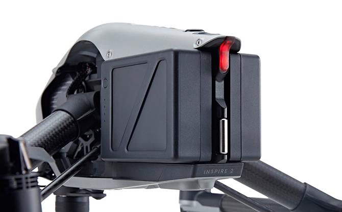 DJI Inspire 2 - Dual Batteri med mulighed for at lande sikkert på et batteri