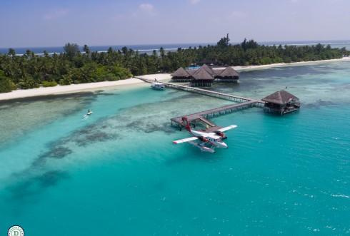 Vandflyver |Maldiverne | Dronefoto