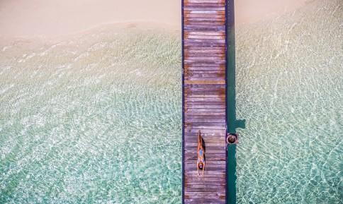 Jetty |Maldiverne | Dronefoto